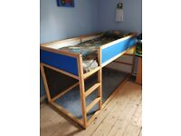Ikea Midi kids bed with mattress and canope