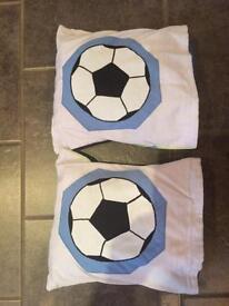 2 Handmade Football Themed Cushions