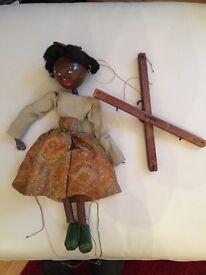 Black Pelham girl puppet