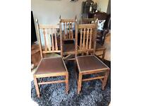 Set of four Vintage Leatherette Studded Dining Chairs