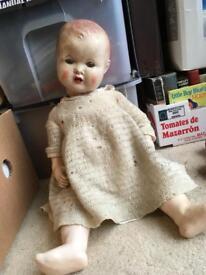 Vintage baby doll c.1940/50 - restoration project?