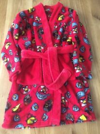 Next angry birds dressing gown age 5 like new