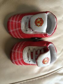 Manchester United FC Baby Strap Shoes (3-6 Months) *Brand new*