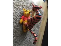 Pooh and Tiger large figurine