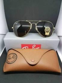 Ray-Ban aviator sunglasses brown lens
