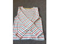 Size 6 to 8 adults striped Boden top.