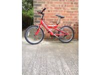 child boy bicycle. age 8-10 color red it in very good condition
