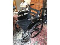 Self propelled lightweight folding wheelchair