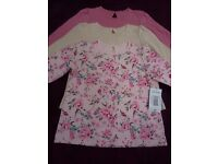 Brand New With Tags Matalan 18 - 23 months Girl's Set of 3 Long Sleeve Tops
