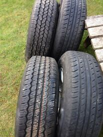 4x4 alloy wheels and tyres