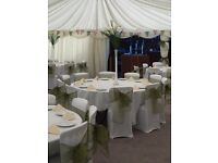 Reception chair covers & bows