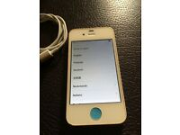 APPLE IPHONE 4 IN WHITE ON EE/TMOBILE NETWORK NICE CONDTION