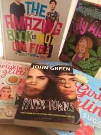 Bundle of five books: Youtubers, John green and Jacqueline wilson