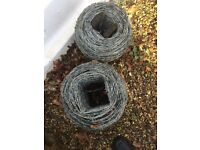 3 rolls of bared wire(new unused)