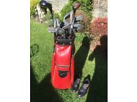 Golf Set - Includes - Bag + Set of Irons + 1 Wood + 3 Wood + Adidas Golf Shoes - Great Starter Set
