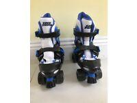Blue roller skates for age 7-9
