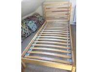 Solid wood single bed in very good condition
