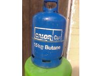 Calor butane bottle,15kg,full.