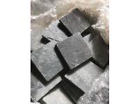 Grey natural slate tiles