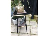 Revamped wooden side table.