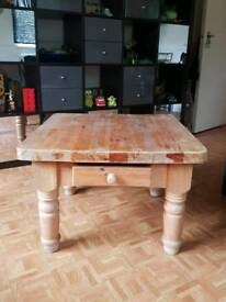 Heavy duty solid pine table