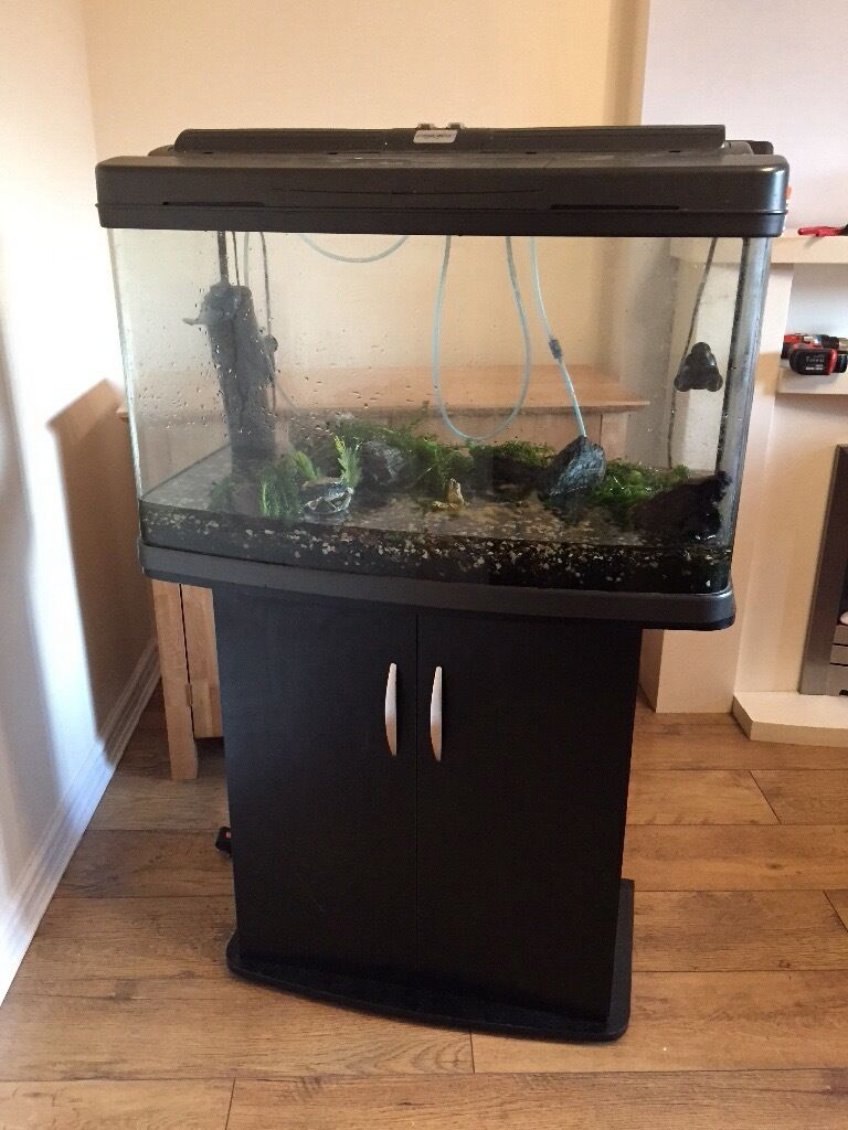 large 120 litre fish tank and stand in bradford west. Black Bedroom Furniture Sets. Home Design Ideas