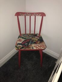 Boys upcycled 'naughty chair'