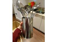 2 Sets of stainless steal utensils