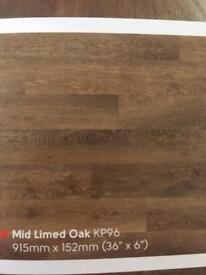 Karndean (NEW) Knight Tile kp96 mid limed oak Lvt Flooring 3.34sqm