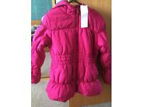 BNWT girls puffy jacket age 9-10