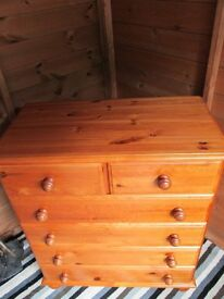 Pine chest of drawers ## SOLD SUBJECT TO COLLECTION ##