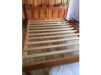 Solid wooden king size bed no matress