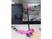 girls Yvolution Y Glider Air Scooter - Pink