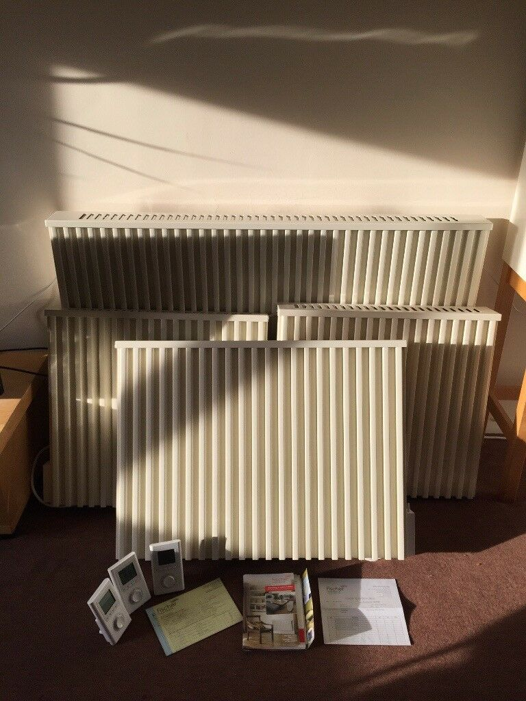 Fischer Storage Heaters >> 4 Fischer Storage Heaters Radiators And 3 Thermostats In Leamington Spa Warwickshire Gumtree
