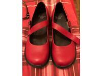 Ladies Red Doc Martin shoe