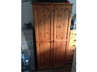 Two doors pine wardrobe