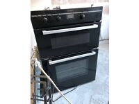 Indesit Black Double Oven & Cooke and Lewis Black Glass Hob, 2 years old.