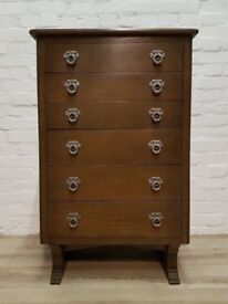 Vintage Chest Of Six Drawers (DELIVERY AVAILABLE FOR THIS ITEM OF FURNITURE)