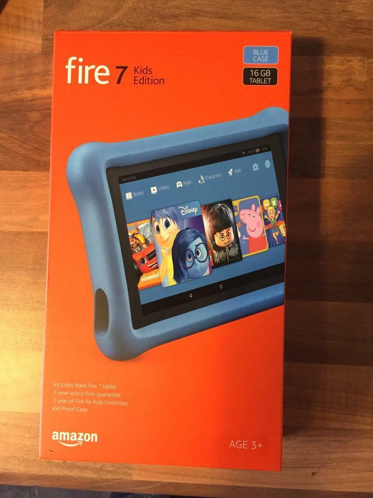 Amazon fire tablet 7 kids edition 16gb with blue case | in Bishopbriggs,  Glasgow | Gumtree