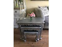 French style Silver Nest of Tables/ Coffee Tables