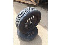 Used 185/55/15 tyre good tread on 4 stud Vauxhall rim 07594145438