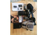 Nikon D90 with 18-105mm lens and accessories - mint condition used once