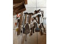 DIY Tools. Various used tools including hammers, chisel etc. Some will need cleaning up.