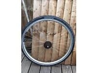 700 x 38c Rear bicycle wheel and tyre