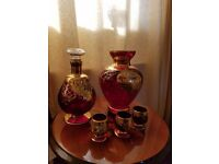 Red glass and gold