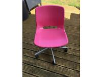 Pink Ikea computer/desk chair