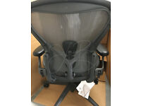 Brand New Herman Miller Aeron Office Chairs PostureFit NEWEST VERSION SizeB Genuine Not Reproduction