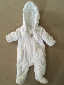 Newborn soft pram suit (up to 10lbs)