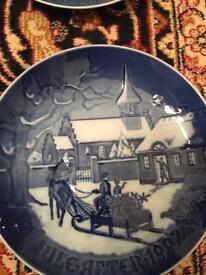 Royal Copenhagen Christmas Plates ( £25 for all 11)
