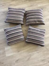 4 x Sofology Pewter/Midnight Mix sofa cushions.